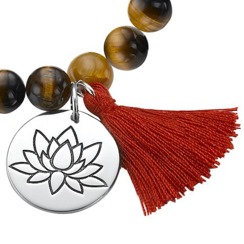 Yoga Jewelry - Lotus Flower Bead Bracelet - 1