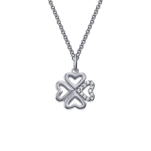 Zirconia Lucky Charm Heart necklace