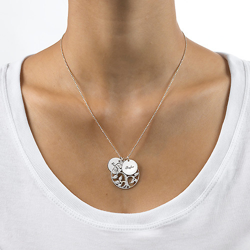 Tree of Life Necklace with Engraved Discs - 2