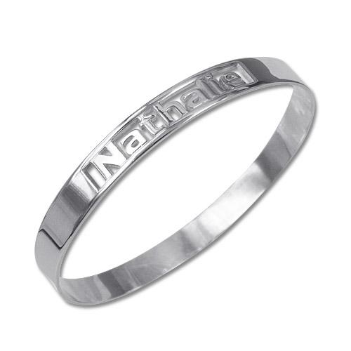 Silver Engravable Bangle Bracelet