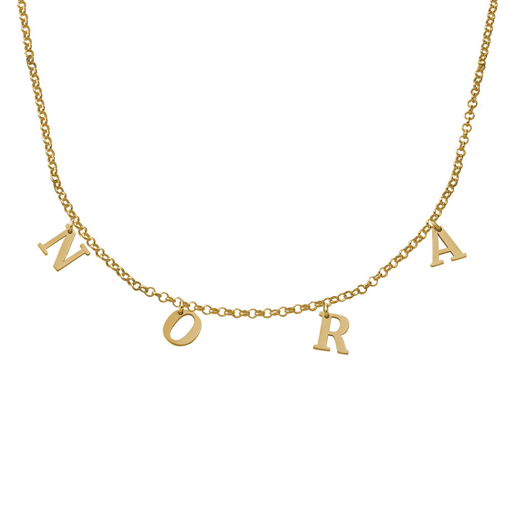 Name Choker in Gold Vermeil