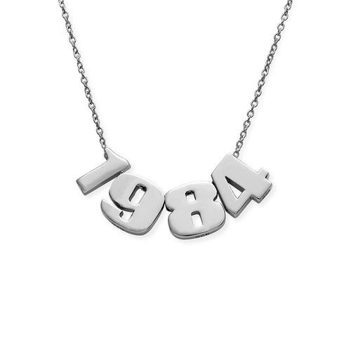 Number Pendant Necklace in Silver