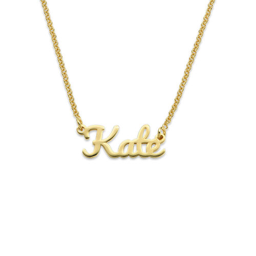 18K Gold Plated Signature Name Necklace for Teenagers - 1