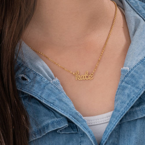18K Gold Plated Signature Name Necklace for Teenagers - 3