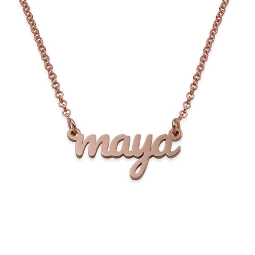 18K Rose Gold Plated Signature Name Necklace for Teenagers