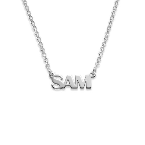 Teen's Silver Name Necklace with Capital Letters