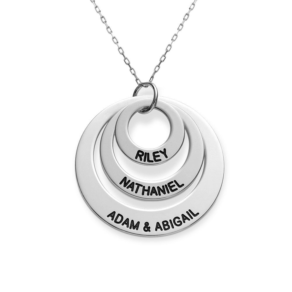 Three Disc Necklace in 10K White Gold