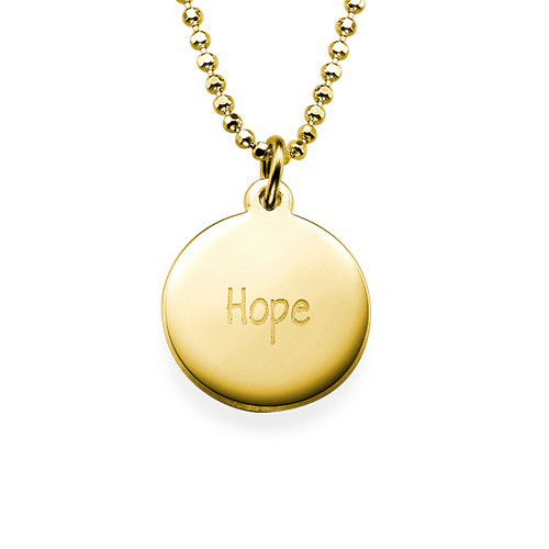 "Inspirational ""Hope"" Necklace GP"