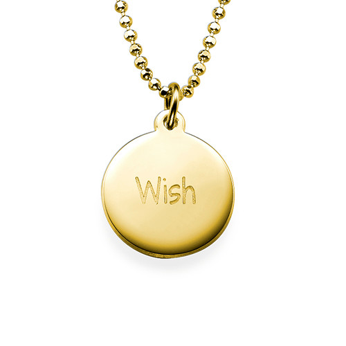 "Inspirational Jewelry - ""Wish"" Necklace GP"