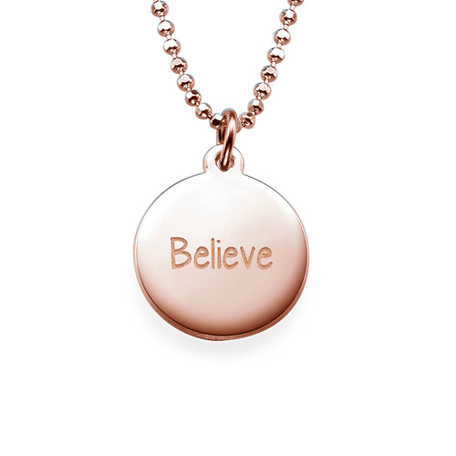 "Inspirational Gifts - ""Believe"" Necklace RGP"