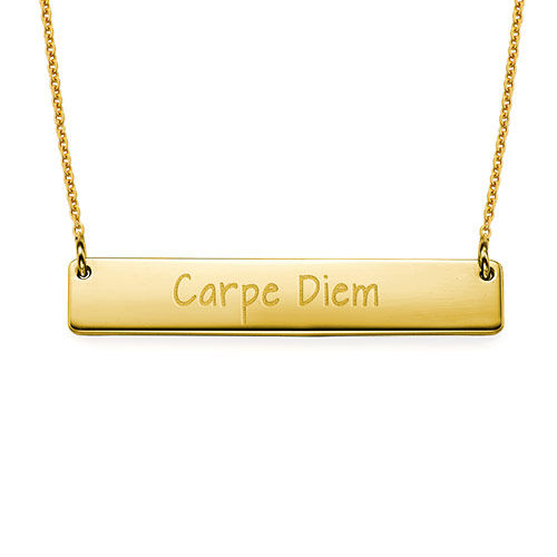 "Inspirational Jewelry - ""Carpe Diem"" Bar Necklace GP"