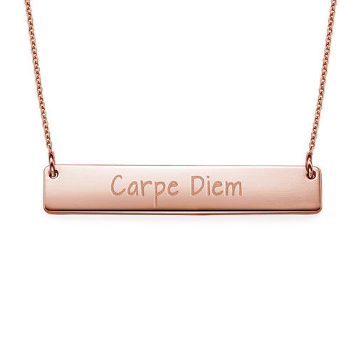 "Inspirational Jewelry - ""Carpe Diem"" Bar Necklace RGP"