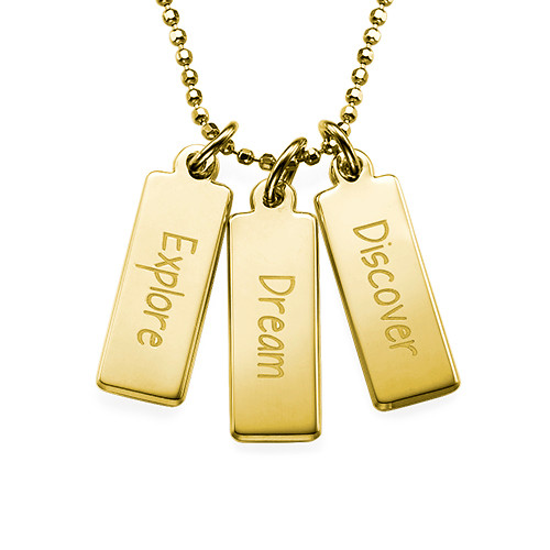 "Inspirational Necklace - ""Explore Dream Discover"" GP"