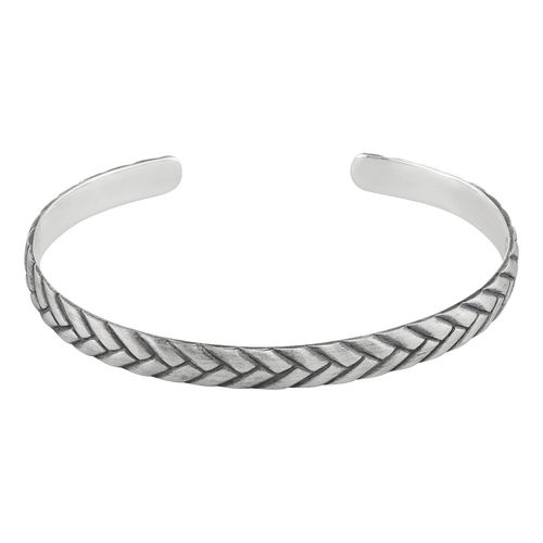 Engraved Streamline Cuff Bracelet for Men