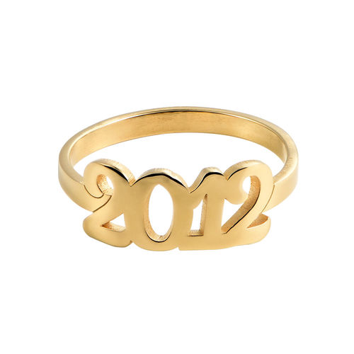 Personalized Number Ring with 18K Gold Plating - 1