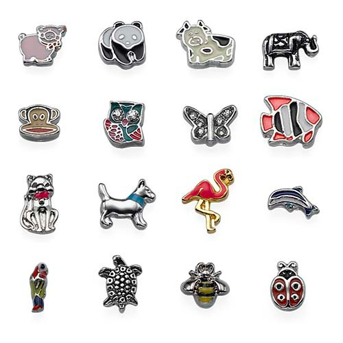 Floating Locket Animal Charms