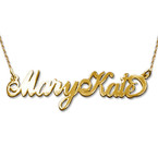 Extra Thick Two Capital Letter 14k Gold Name Necklace