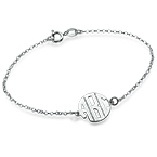 XS Block Monogram Bracelet