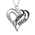 Personalized 3D Heart Necklace in Sterling Silver