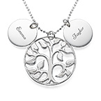 Tree of Life Necklace with Engraved Discs