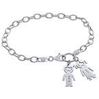 Charm Bracelet with Kids Pendants
