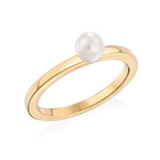 18K Gold Plated Stackable Pearl Ring