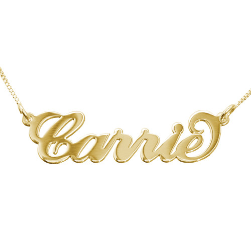 Personalized 14k Gold Carrie Name Necklace Mynamenecklace