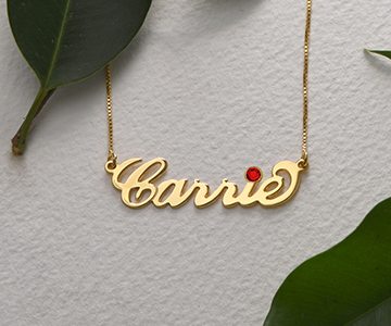 Discover the July Birthstone Meaning   My Name Necklace