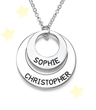 Personalized Jewelry for Moms – Disc Necklace