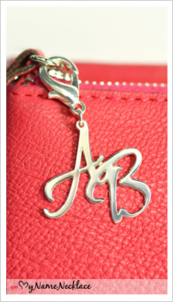 Personalized Silver Handbag/Purse Initial Charm