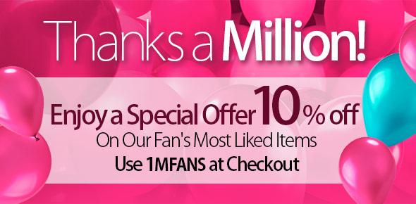 Celebrate 1 million Facebook Fans