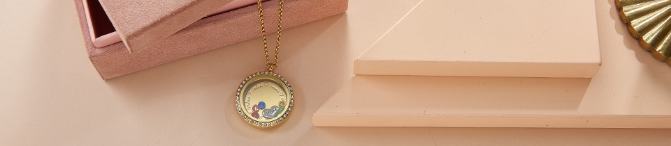 Floating Lockets Necklaces