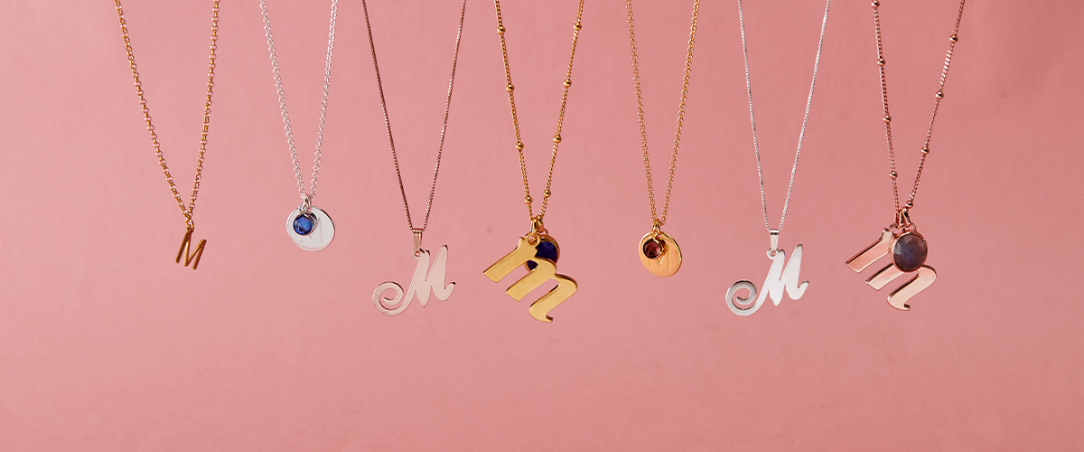 How to Style Initial Jewelry