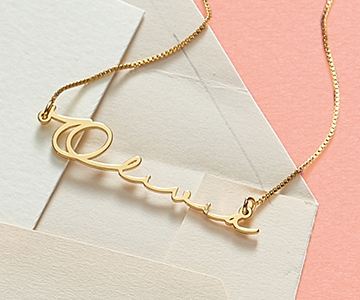 Solid Gold Vs Plated Jewelry My Name Necklace