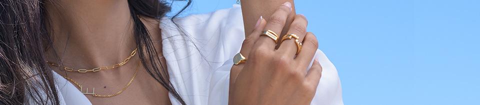 Stackable birthstone rings