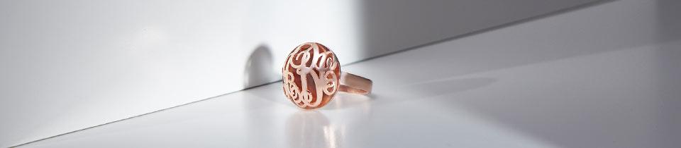 3D Monogram Necklaces