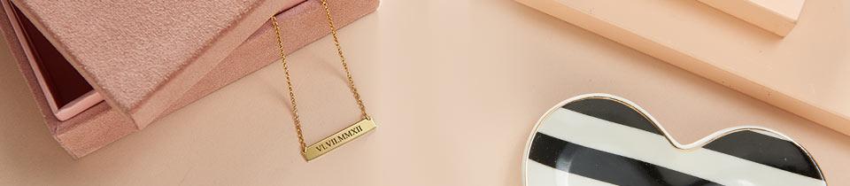 roman numeral necklaces