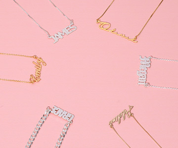 Discover Your Name Necklace in Different Materials