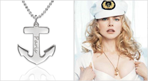 Engraved Anchor Necklace Nicole Kidman