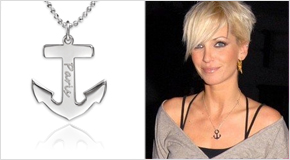 Engraved Anchor Necklace Sarah Harding