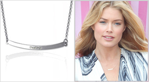 Engraved Bar Necklace Doutzen Kroes