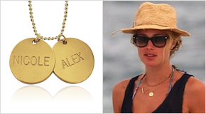 Engraved Disc Necklace Doutzen Kroes