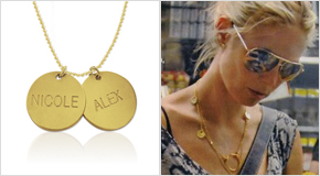Engraved Disc Necklace Heidi Klum