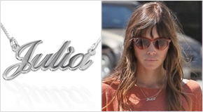 Name Necklace Jessica Biel