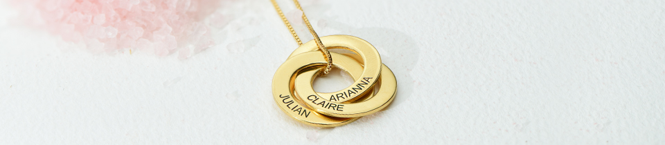 Personalized Circle Necklaces & Jewelry