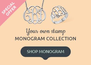 Monogram Necklaces & Jewelry