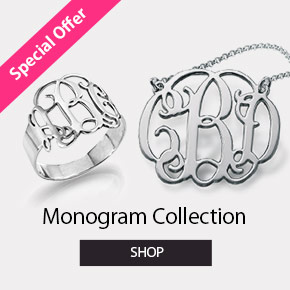 Monogram Necklaces & Jewelry