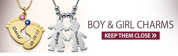 Boy and Girl Charms