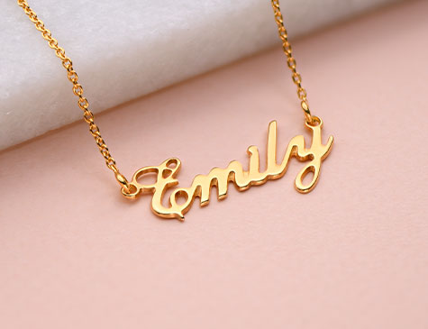 White Gold Plated Name Necklace Engagement Custom Gift Idea For Her NICOLA