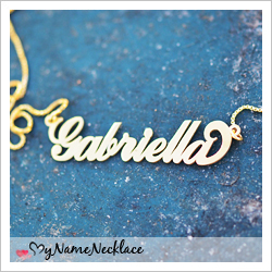 18k Gold-Plated Sterling Silver Carrie Name Necklace